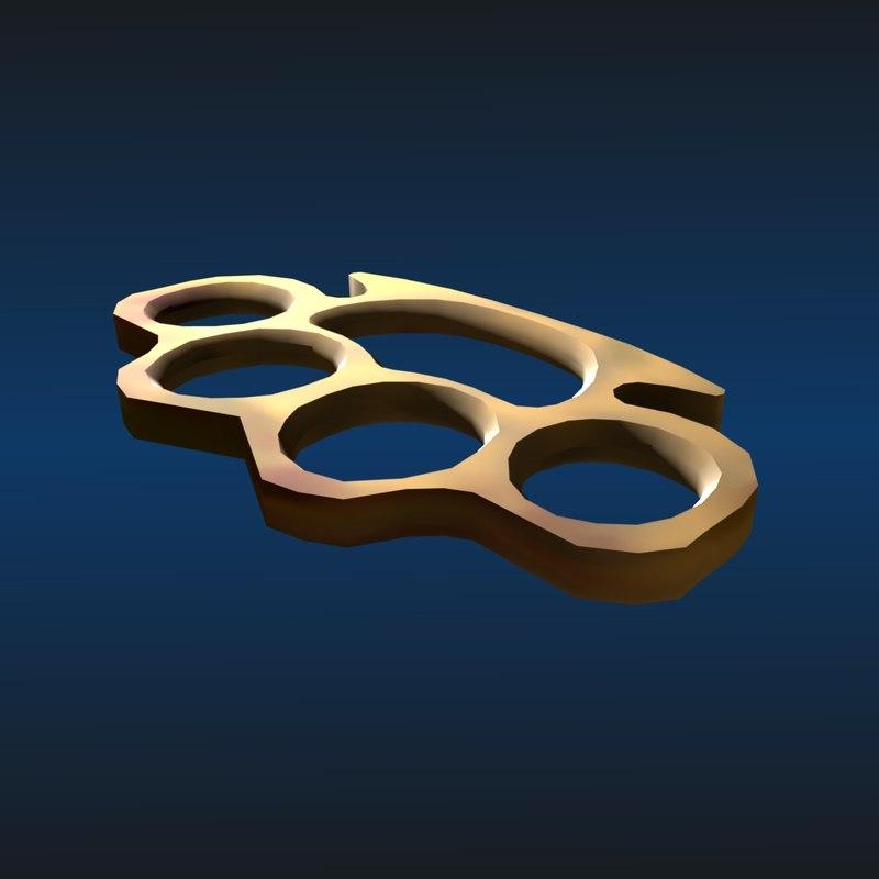 brass knuckle 3d model