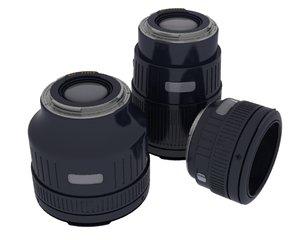 3d model camera lens slr