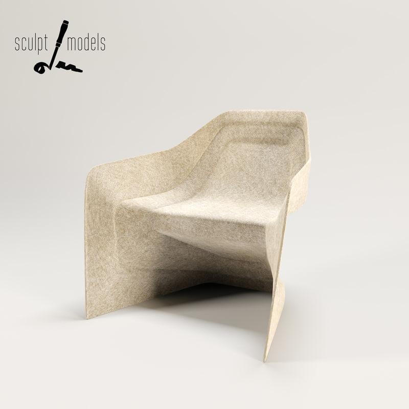 3d model hemp chair
