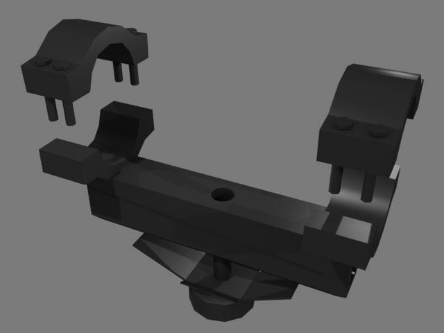 3d ncstar mar8 ar-15 mount model