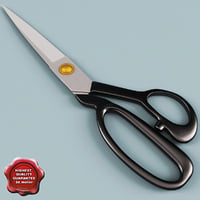 3d model of tailor scissors