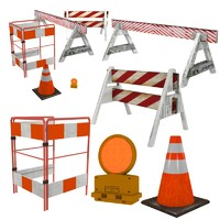 obj traffic barriers