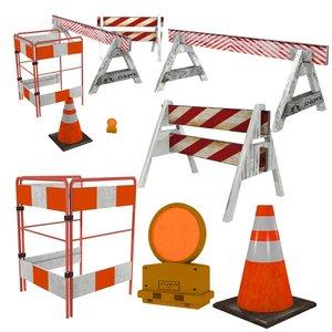obj traffic barriers