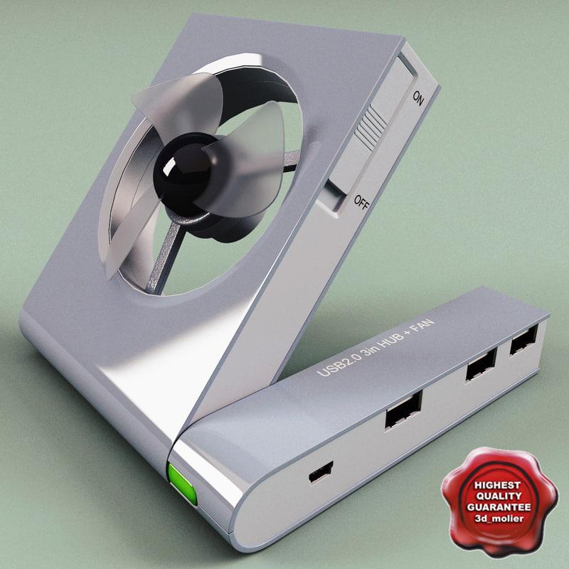 3d usb fan v3 model