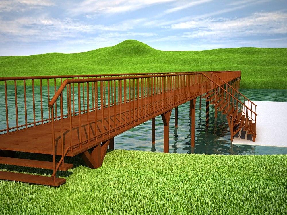 bridge wood wooden 3ds
