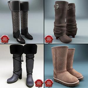 3d model winter shoes