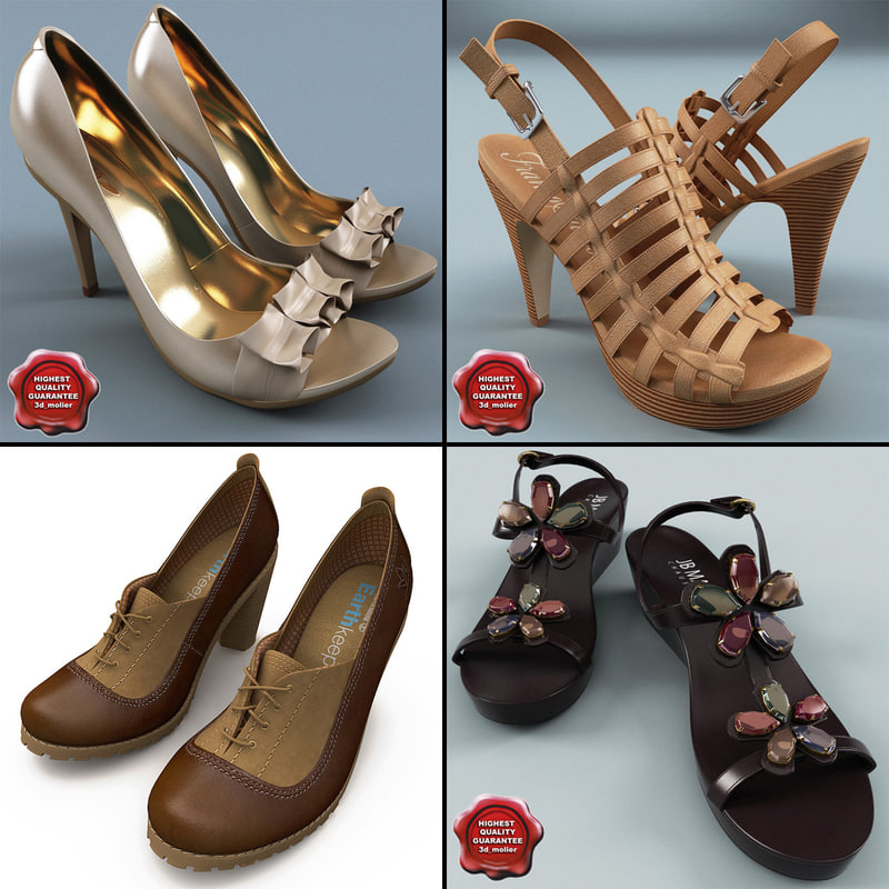 3ds max women shoe