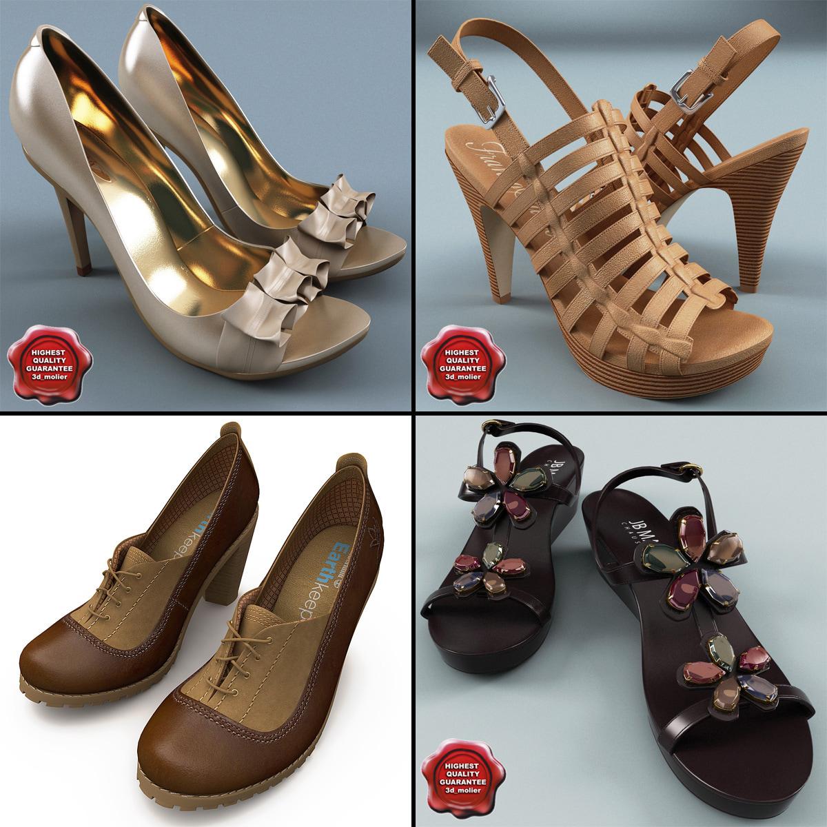 3ds max women shoe