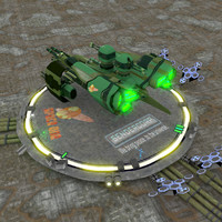 blend gunship guns transport