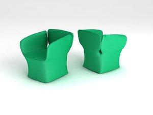 3dsmax bloomy chair bloom