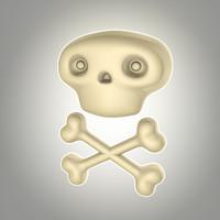 lwo cartoon skull