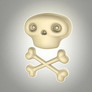 3d model cartoon skull