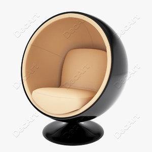 3d ball chair eero aarnio model