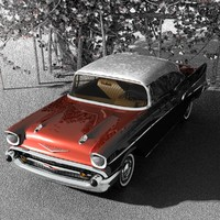 1957 chevy 3d max