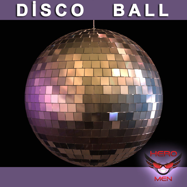 render disco ball 3d model