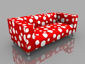 3d model klippan couch ikea