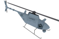 3d model of mq-8 scout