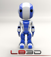 AO-Maru Friendly Blue Robot Legacy Series Model
