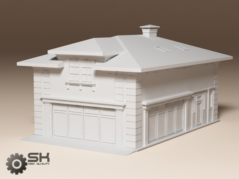 Garage country construction 3d model for 3d garage builder