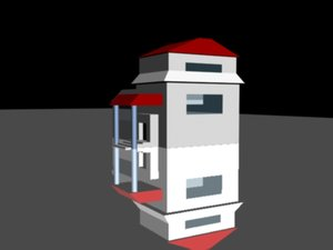 free simple house 3d model