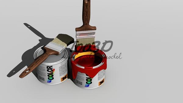 3d paint brush model