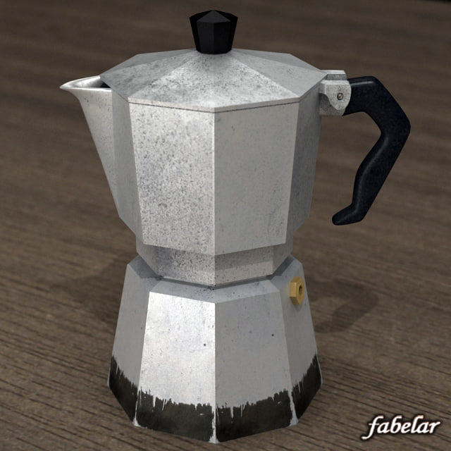 3d italian coffee percolator