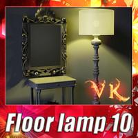 modern floor lamp 10 3d model