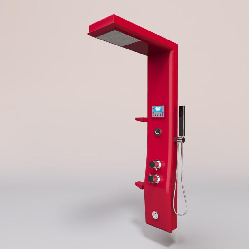 etoile shower 3d model