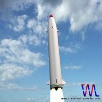 3d prithvi missile model