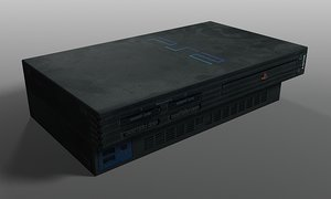 playstation 2 3d model