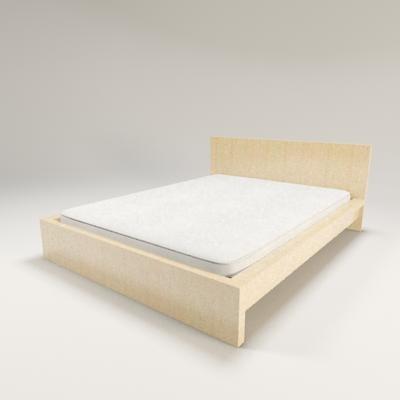 3d ikea malm bed mattress