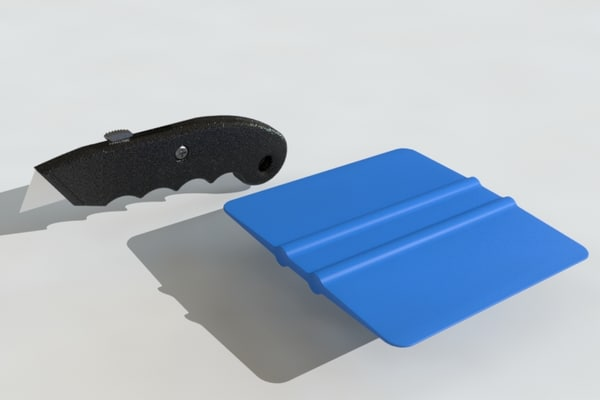utility knife squeegee 3d 3ds