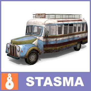 3d model bus vehicle