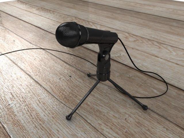 microphone mic phone 3d model