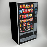 3d model of vending machines