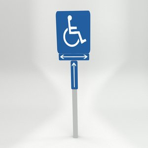 3dsmax handicapped signs