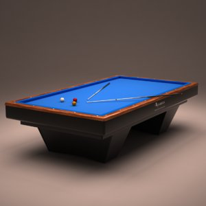 billiard table 3d max