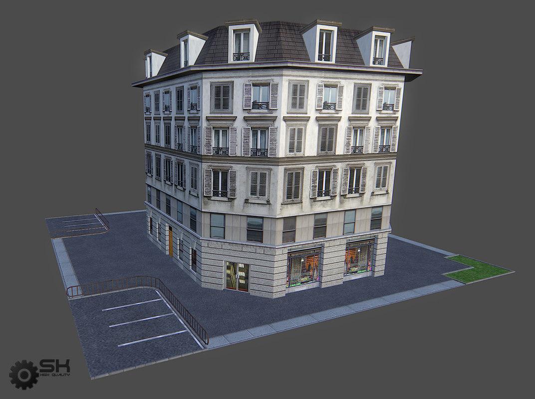3d model paris house