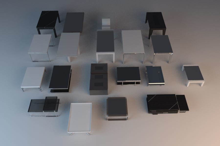 3ds max modern tables
