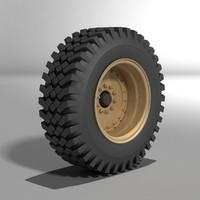 3d model of truck wheel