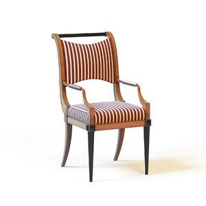 3d model baker fontaine chair