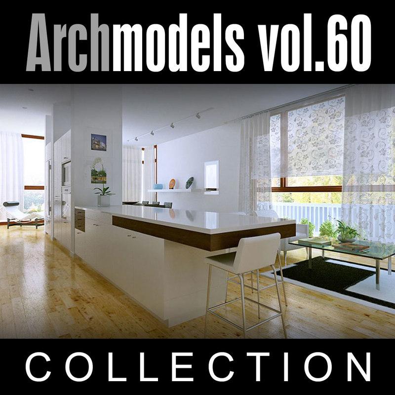 archmodels vol 60 curtains 3d max