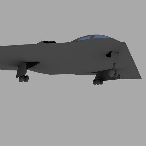 3d b-2 bomber stealth model