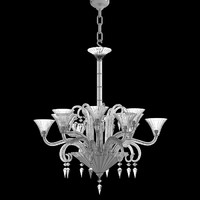 Baccarat crystal glass chandelier modern contemporary mille nuits