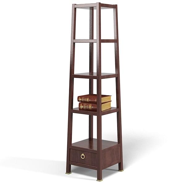 3d baker monument etagere model. Black Bedroom Furniture Sets. Home Design Ideas