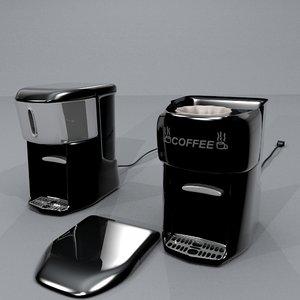 2 coffeemakers styles coffee pot obj