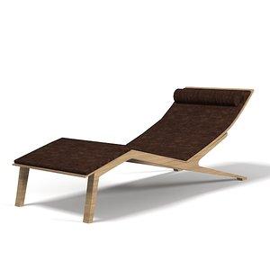 3d chaise lounge longue model