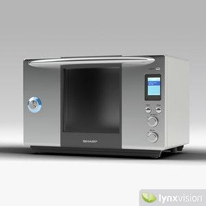 steam oven sharp 3d model
