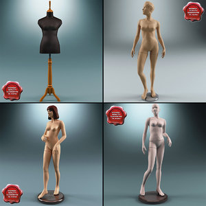 female mannequins 3d model