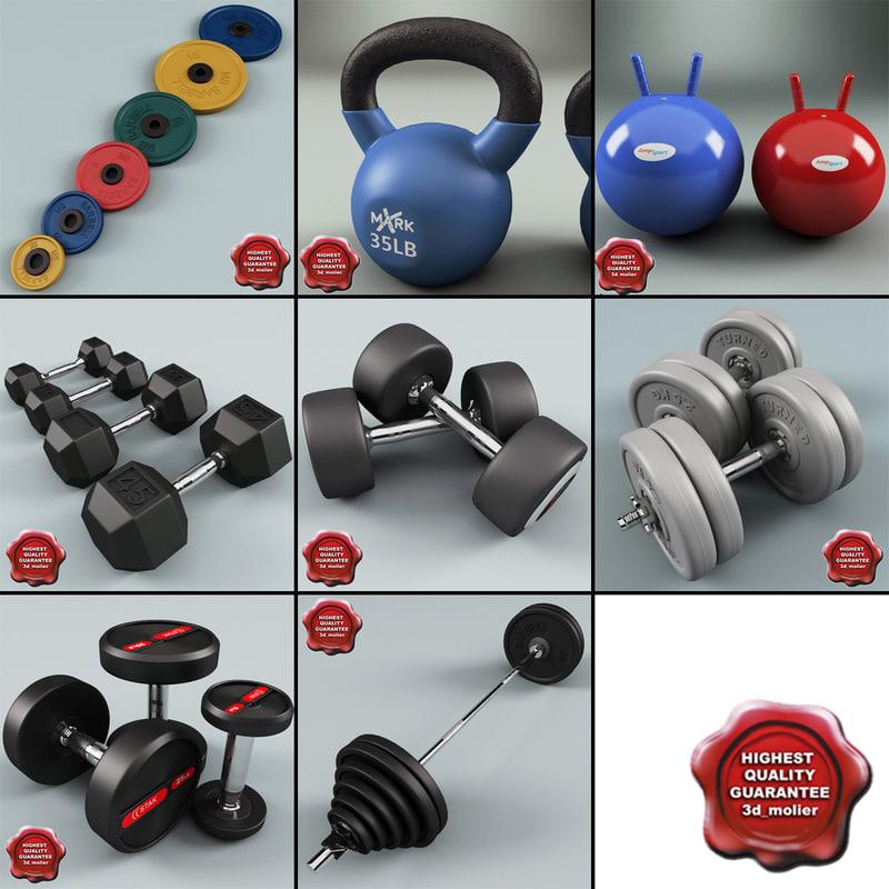 gym equipment v5 3d c4d